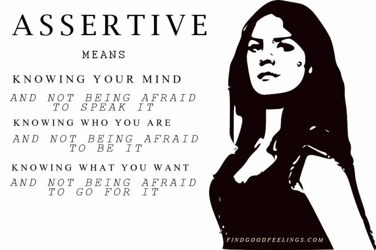 assertive means