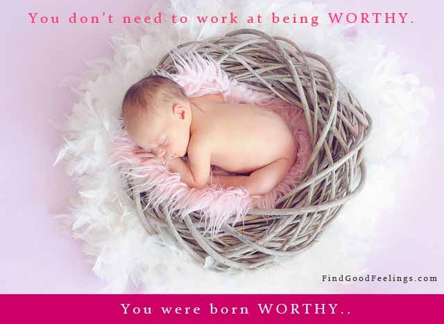 baby sleeping worthy you were born worthy